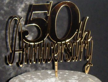 50th anniversary  Cake Topper or any number