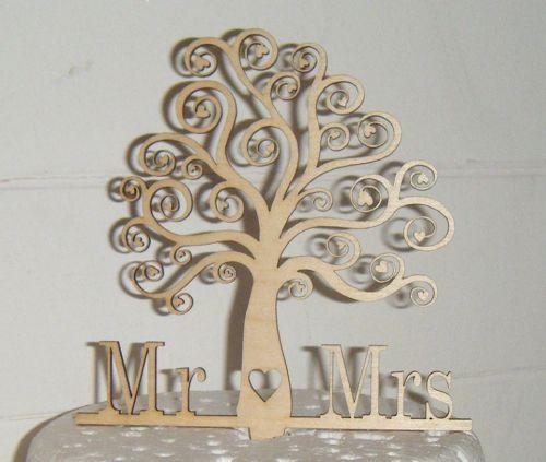 Mr + Mrs Tree Cake Topper
