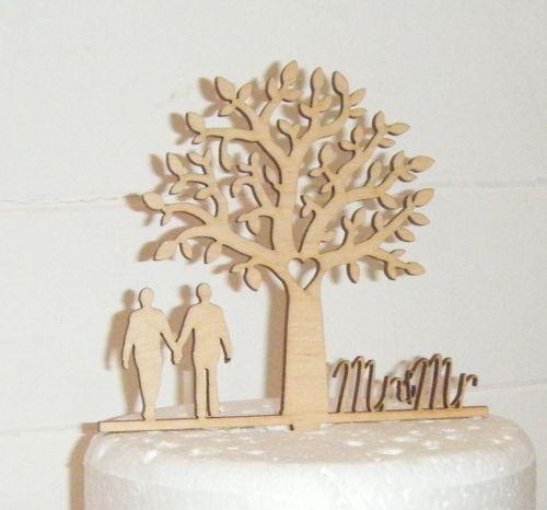 Mr + Mr Tree Cake Topper  Gay wedding