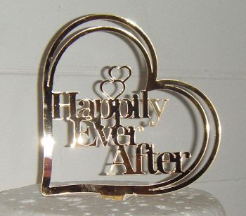 Happily ever after Heart  Cake Topper