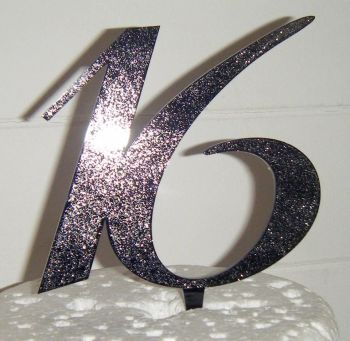 16 Cake Topper 2  (Sold design Exactly as shown)