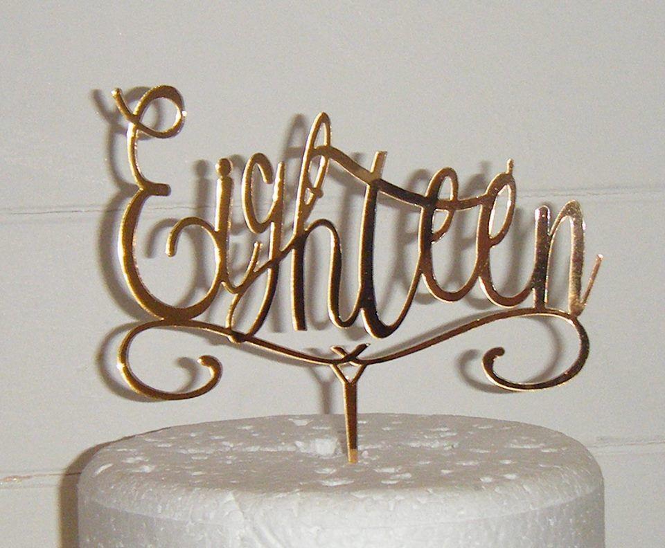 Eighteen Cake Topper 2