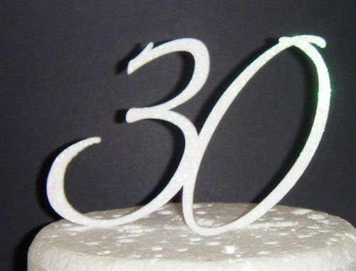30 Cake Topper 3