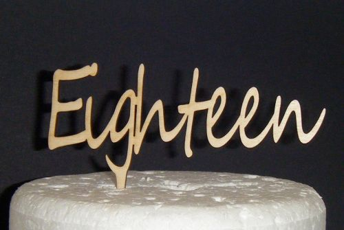 Eighteen Cake Topper 3