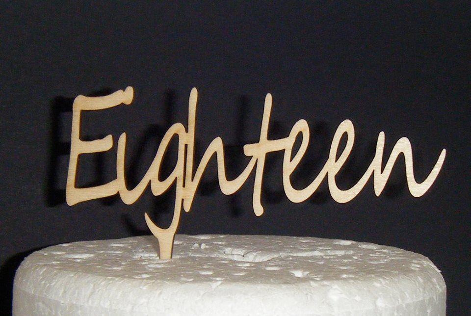 Eighteen Cake Topper 3