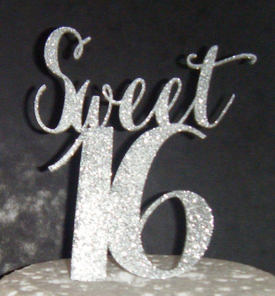Sweet 16 Cake Topper 1