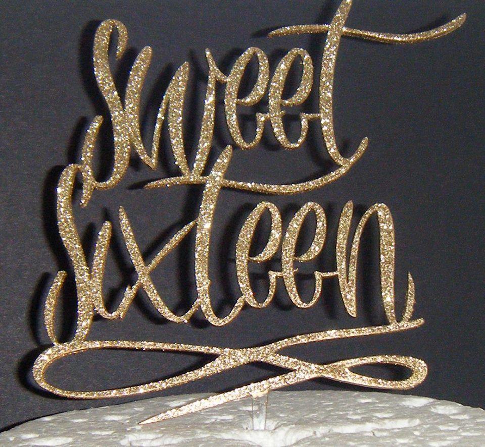 Sweet 16 Cake Topper 2