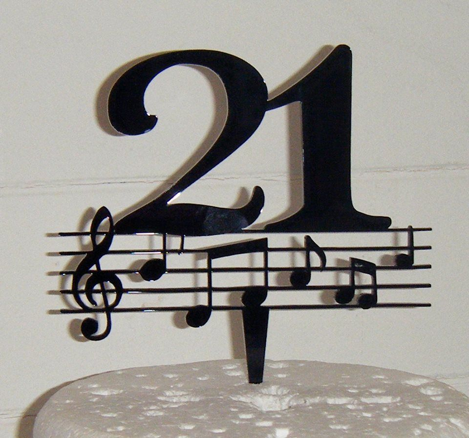 21 Music note  Cake Topper