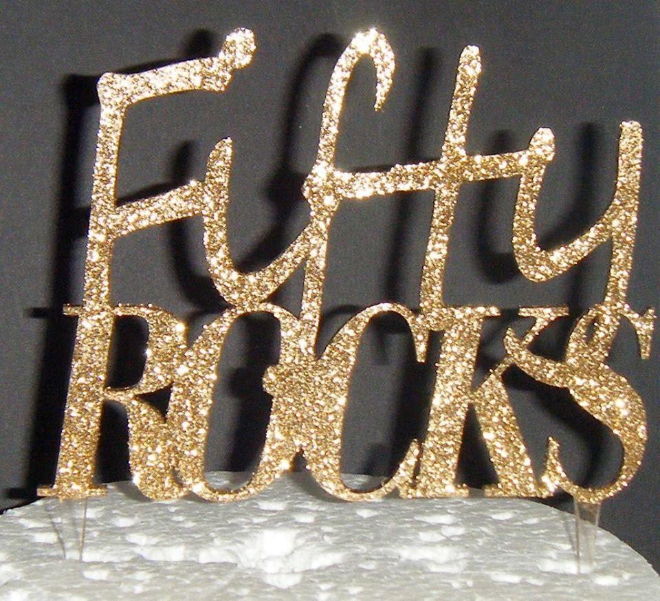 Fifty Rocks Cake Topper