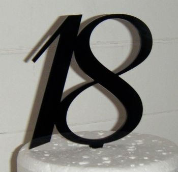 18 Cake Topper 4   (Sold design Exactly as shown)