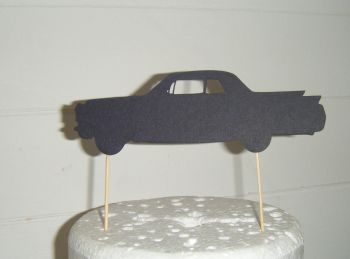 Cadillac Car Silhouette Cake Topper
