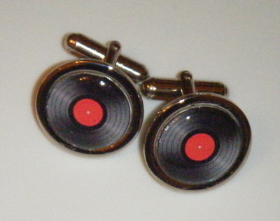 Retro Vinyl Record LP Fun Cufflinks