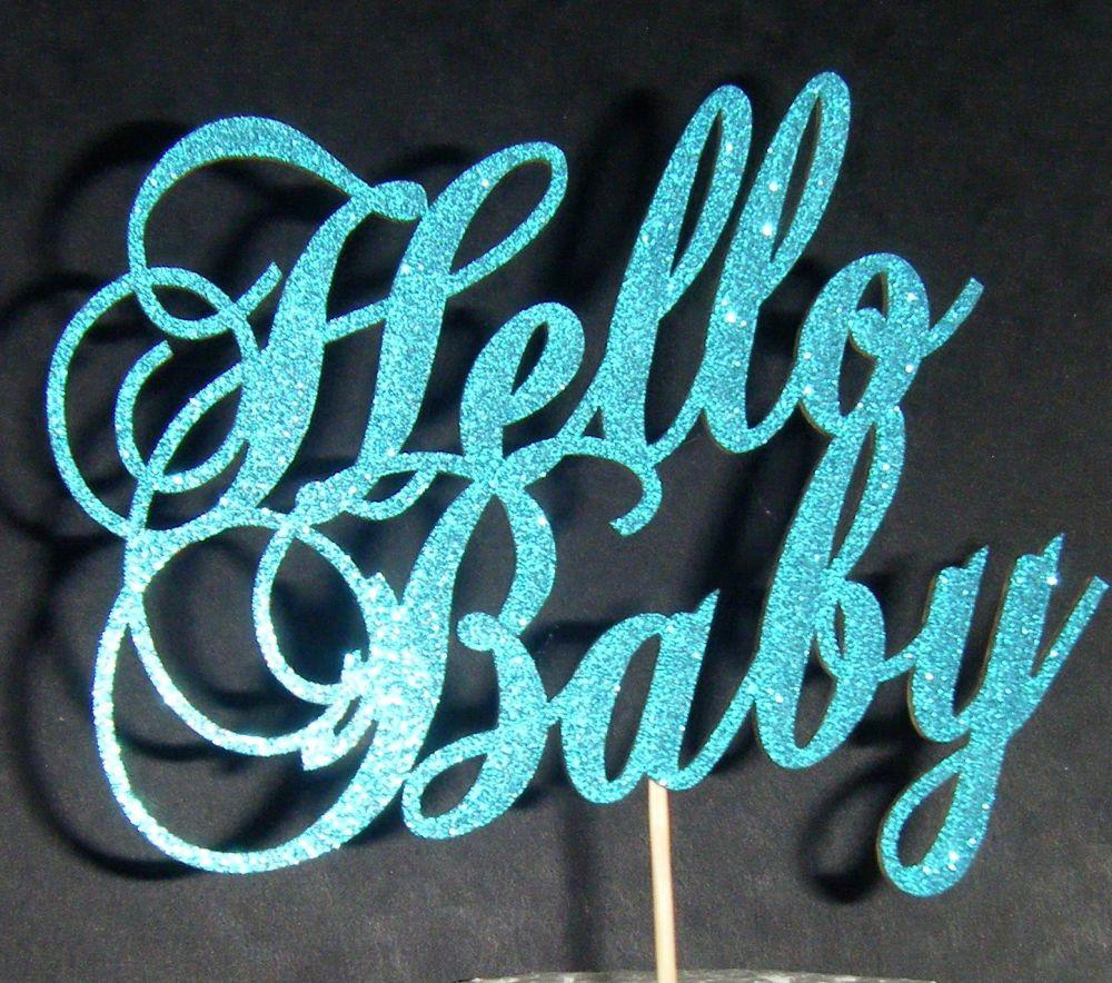 Hello Baby Shower Cake topper