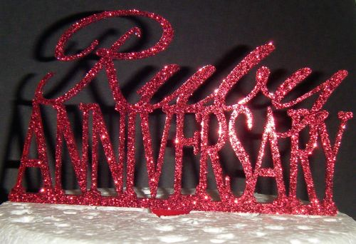 Ruby Anniverssary Cake Topper