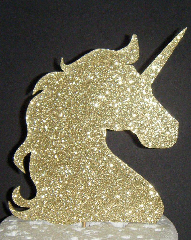 Unicorn Head Silhouette Cake Topper