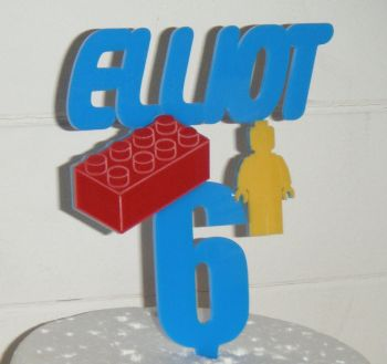 Double colour acrylic Topper Custom made