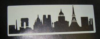 Paris Eiffel Tower Skyline Cake decorating stencil Airbrush Mylar Polyester Film