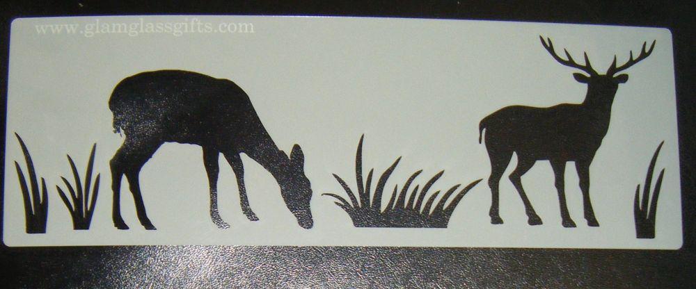 Woodland Animals Stags Cake decorating stencil set Airbrush Mylar Polyester
