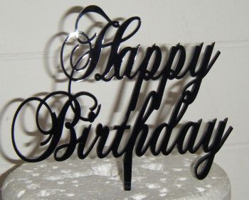 Happy Birthday Cake Topper Swirly chop