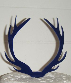 Antlers Silhouette Cake Topper