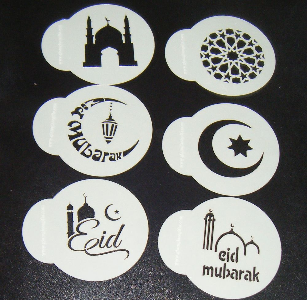 6 x Eid cupcake Stencils