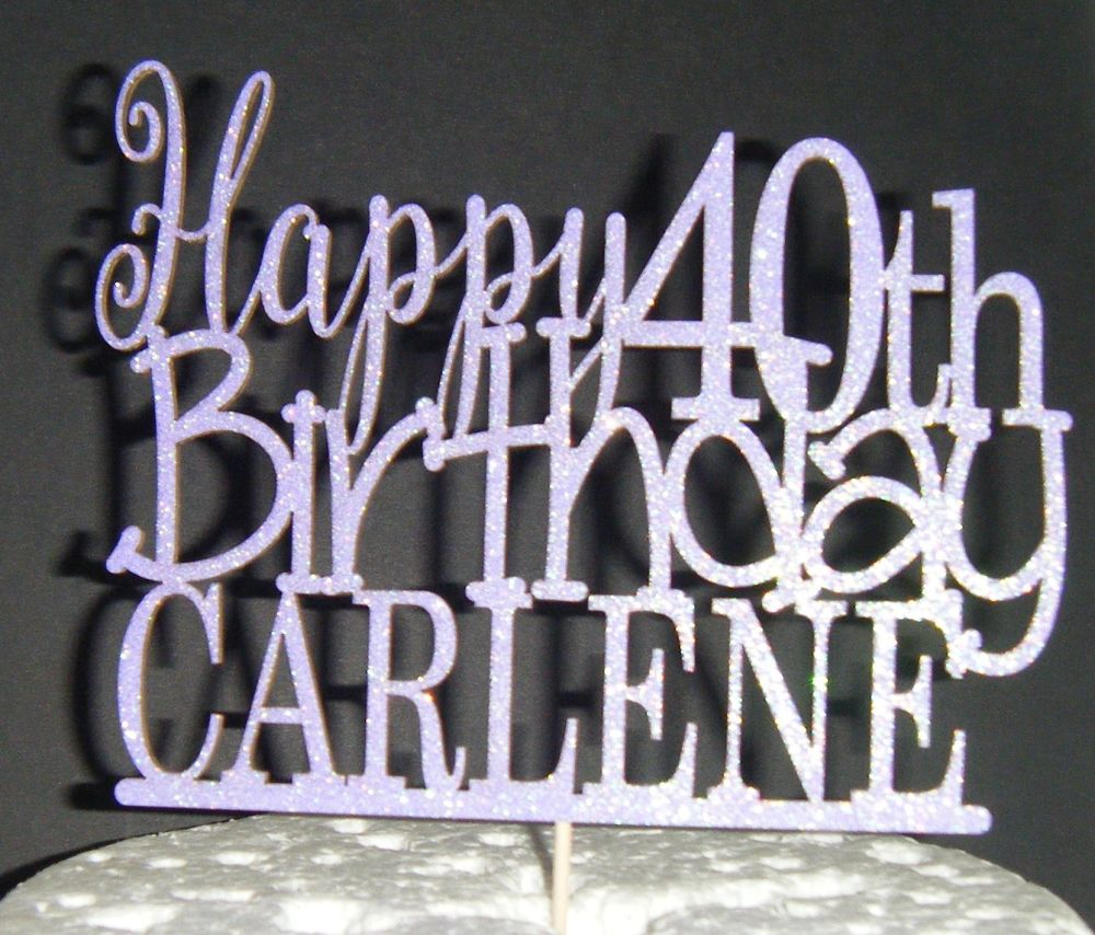 Happy number Birthday and Name  Topper Custom made
