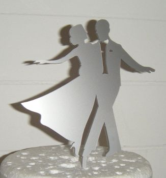 Fred and Ginger Dancer Silhouette Cake Topper
