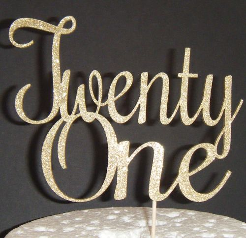 Twenty one 21 Cake Topper style 4
