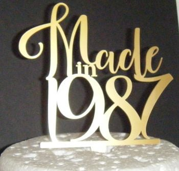 Made in 1987 (or any Year)  Cake Topper