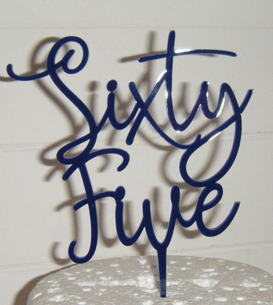 Sixty Five Cake Topper