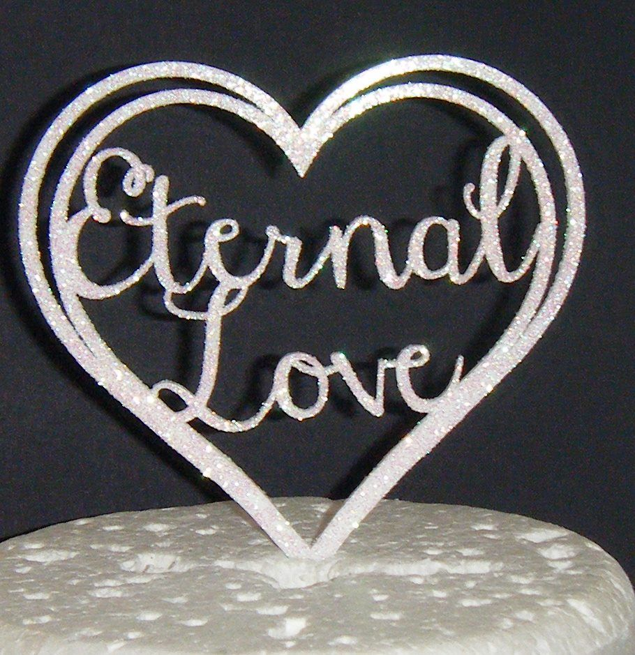 Eternal Love Heart Cake Topper