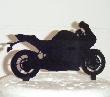 MotorBike Silhouette Cake Topper