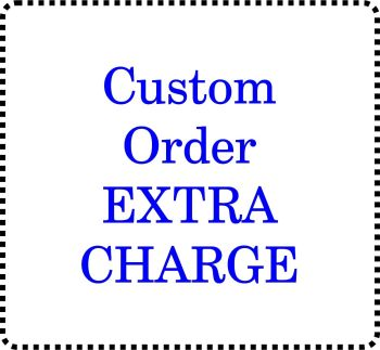 Extra charge for large topper or other item