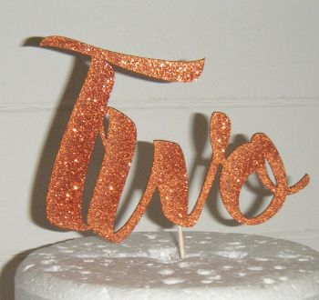 Two Cake Topper   (Sold design Exactly as shown)