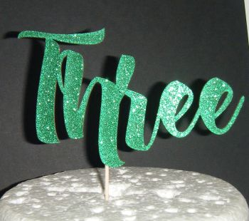 Three Cake Topper   (Sold design Exactly as shown)