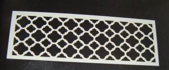 Quatre Foil Pattern Cake decorating stencil  Airbrush Mylar Polyester Film