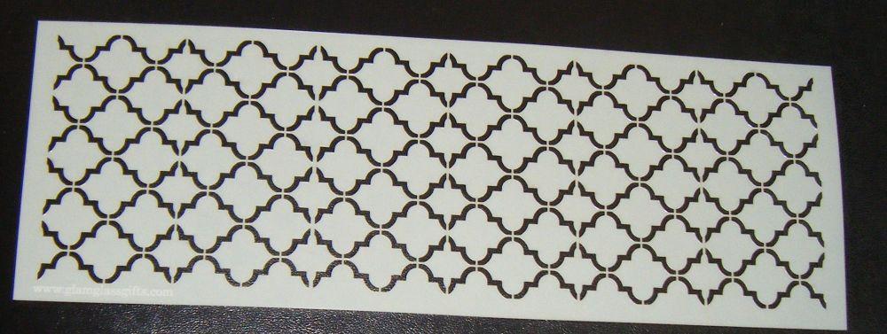 Quatre Foil 2 Pattern Cake decorating stencil Airbrush Mylar Polyester Film
