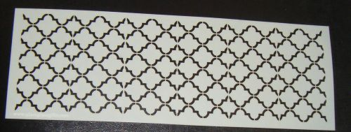 Quatre Foil 2 Pattern Cake decorating stencil Airbrush Mylar Polyester Film