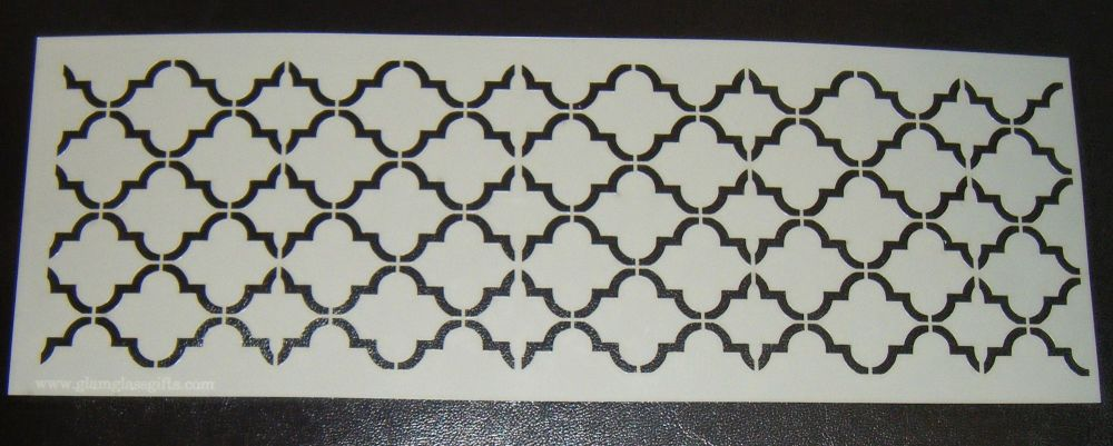 Quatre Foil 3 Pattern Cake decorating stencil Airbrush Mylar Polyester Film