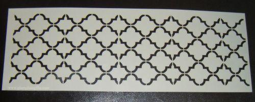 Quatre Foil 3 Pattern Cake decorating stencil Airbrush Mylar Polyester Film