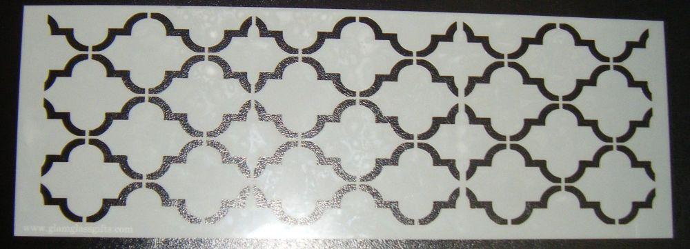 Quatre Foil 4 Pattern Cake decorating stencil Airbrush Mylar Polyester Film