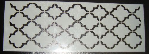 Quatre Foil 4 Pattern Cake decorating stencil Airbrush Mylar Polyester Film
