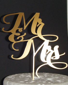 Mr + Mrs Cake Topper  style 4  (or same sex)