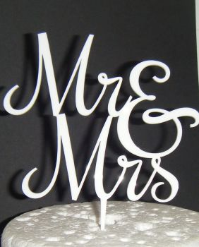 Mr + Mrs Cake Topper  style 5  (or same sex)