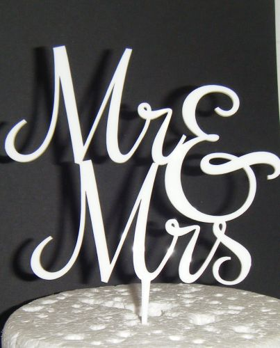Mr + Mrs Cake Topper  style 5