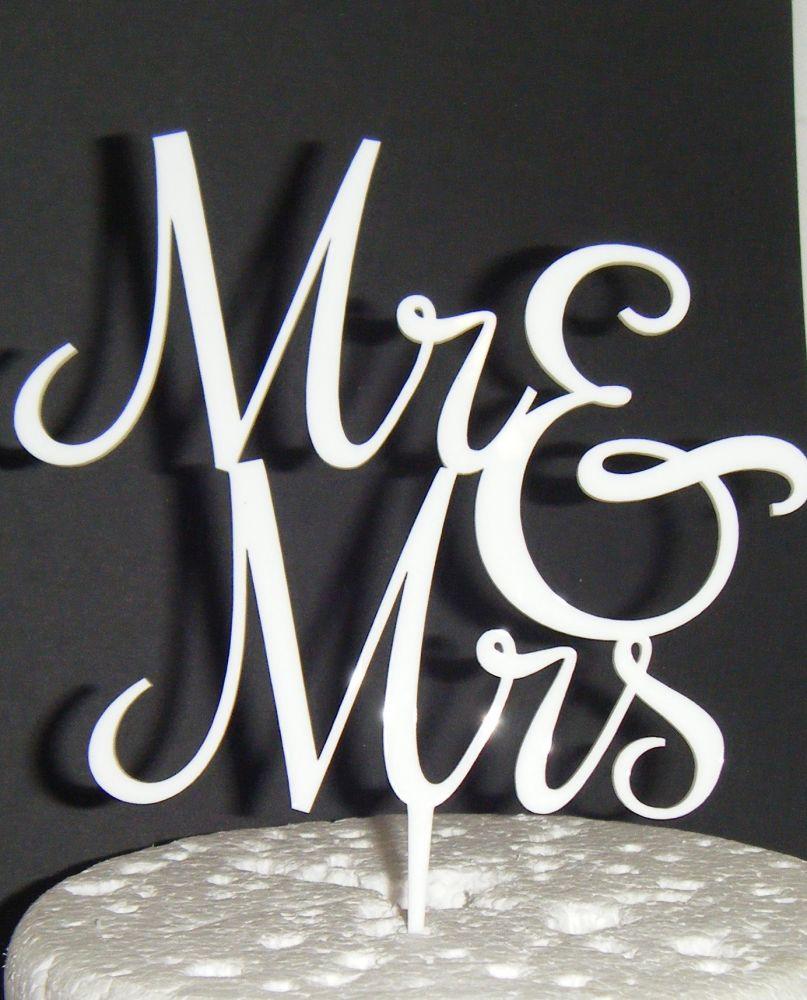 Mr + Mrs Cake Topper  style 5