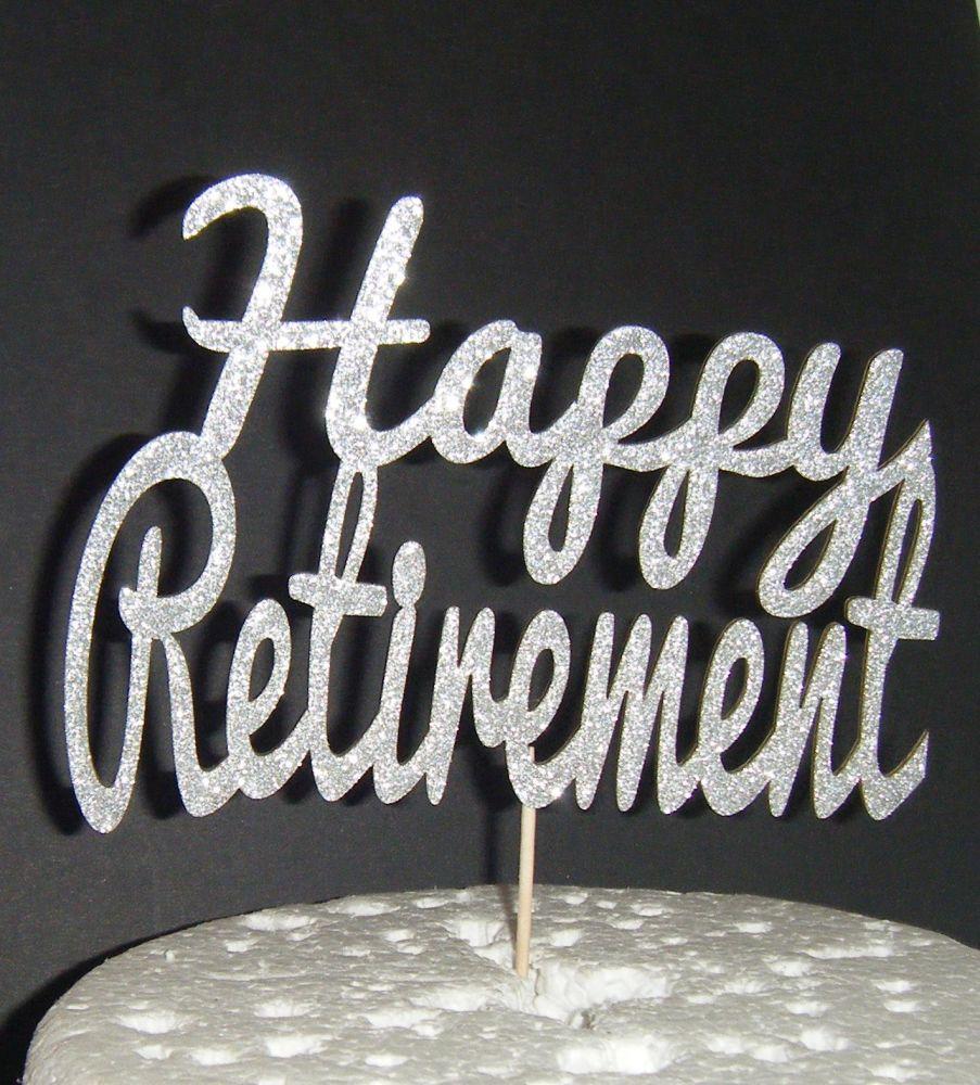 Happy Retirement Cake Topper 2