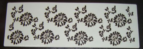 Floral Pattern Cake decorating stencil Airbrush Mylar Polyester Film