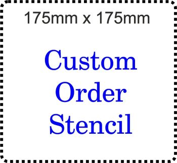 Custom order Cake Bespoke Stencil 7 Inch size