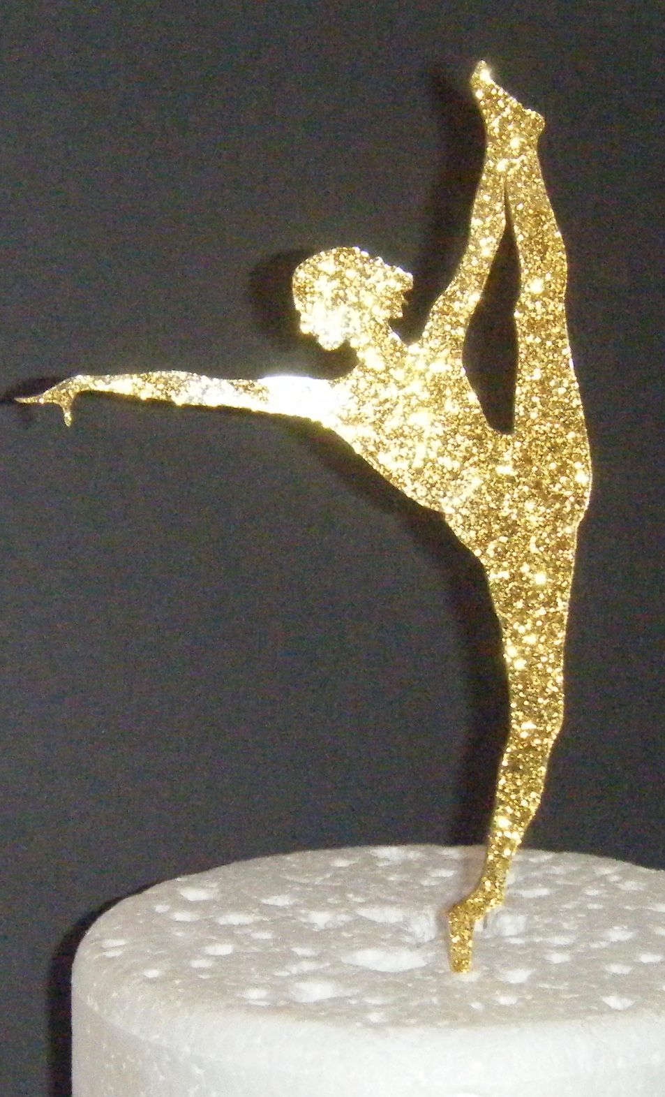 Dancer Gymnast Silhouette Cake Topper  1